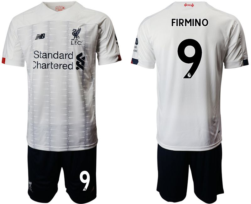 Men 2019-2020 club Liverpool away 9 white Soccer Jerseys