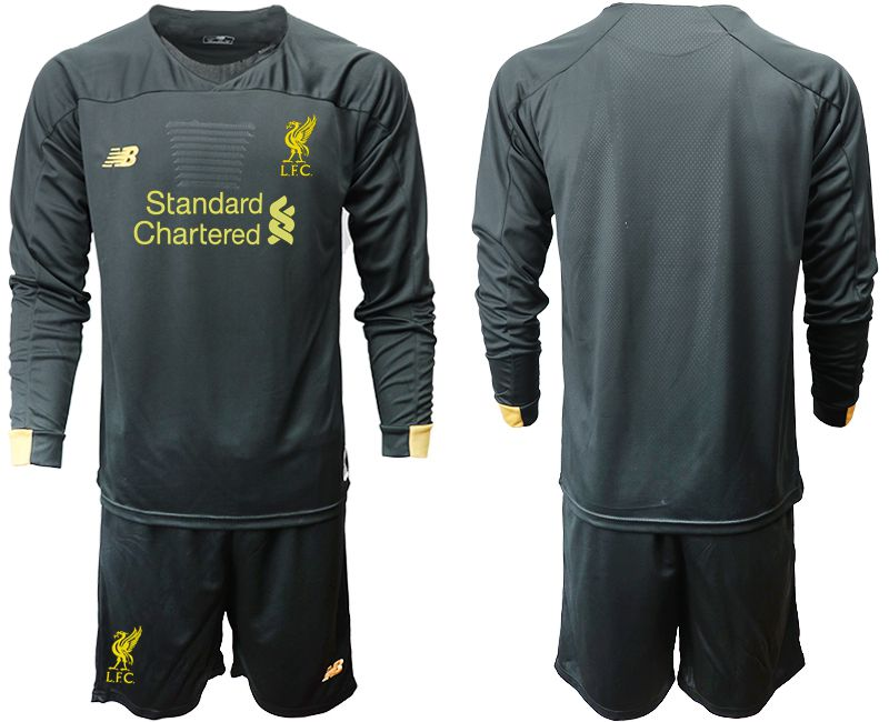 Men 2019-2020 club Liverpool black long sleeve goalkeeper Soccer Jerseys