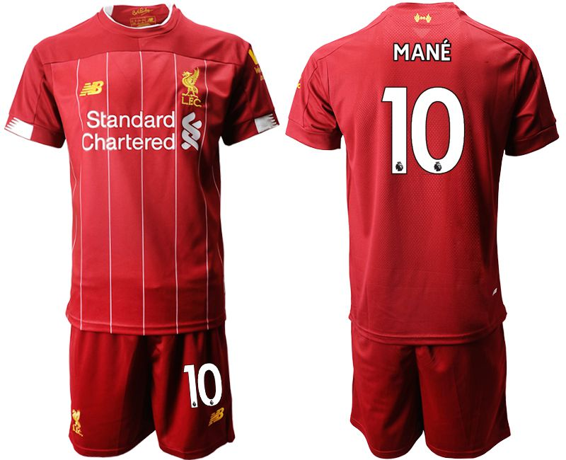Men 2019-2020 club Liverpool home 10 red Soccer Jerseys