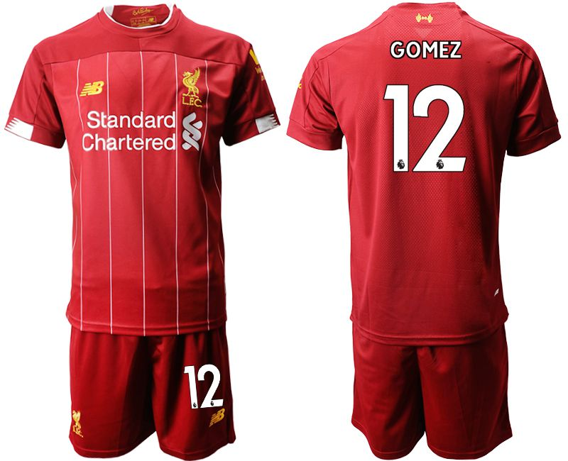 Men 2019-2020 club Liverpool home 12 red Soccer Jerseys