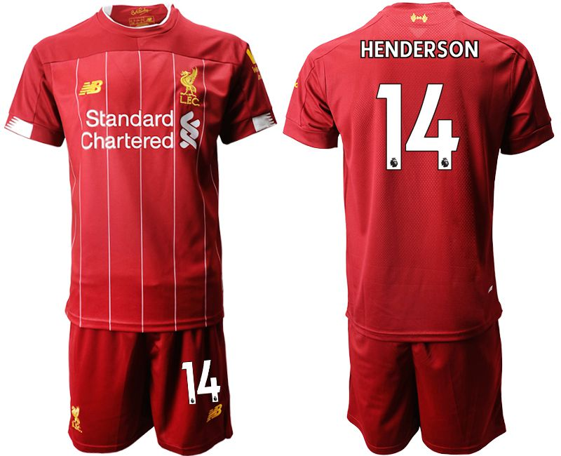 Men 2019-2020 club Liverpool home 14 red Soccer Jerseys