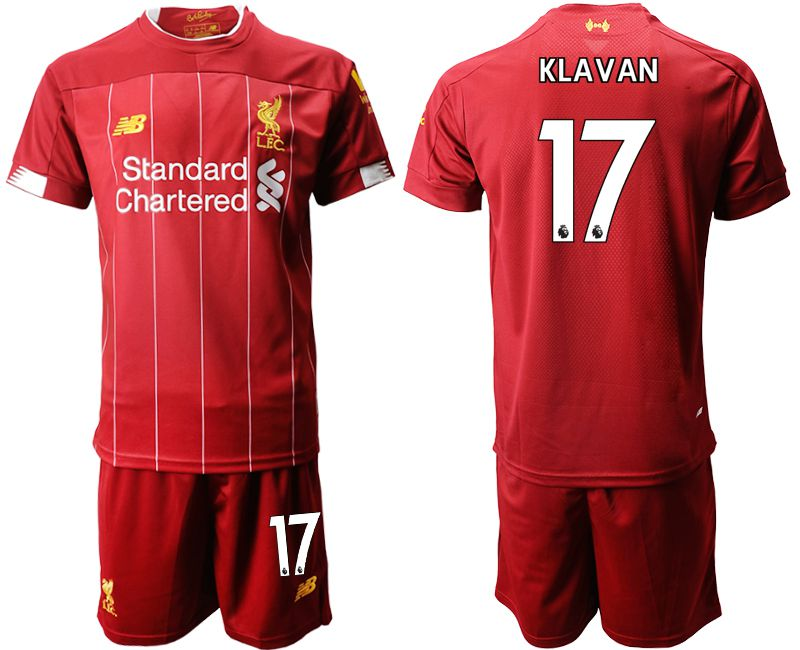Men 2019-2020 club Liverpool home 17 red Soccer Jerseys