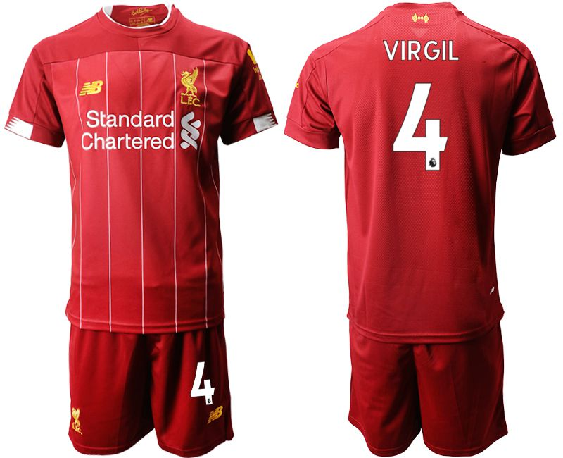 Men 2019-2020 club Liverpool home 4 red Soccer Jerseys