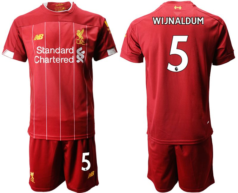 Men 2019-2020 club Liverpool home 5 red Soccer Jerseys