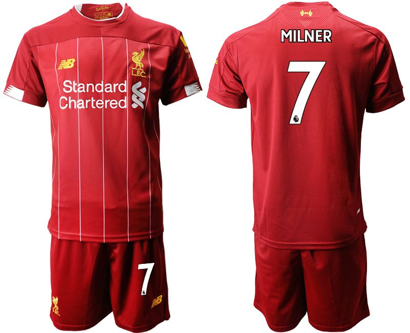 Men 2019-2020 club Liverpool home 7 red Soccer Jerseys