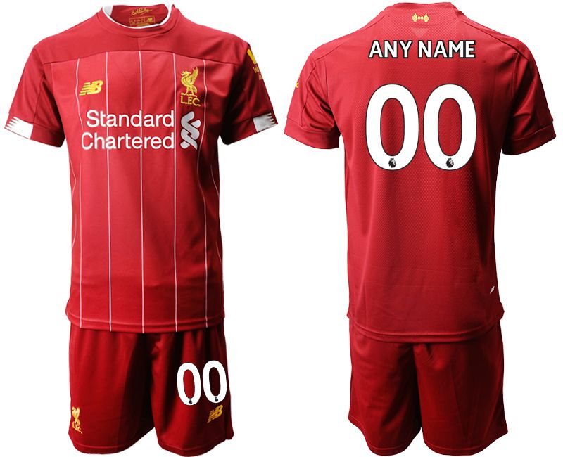 Men 2019-2020 club Liverpool home customized red Soccer Jerseys