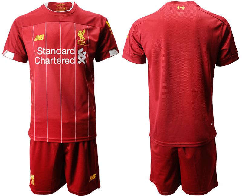 Men 2019-2020 club Liverpool home red Soccer Jerseys