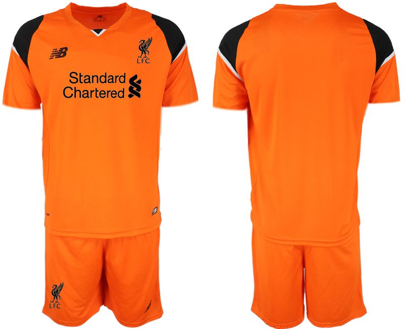 Men 2019-2020 club Liverpool orenge goalkeeper Soccer Jerseys