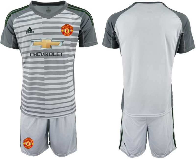 Men 2019-2020 club Manchester United gray goalkeeper Soccer Jerseys