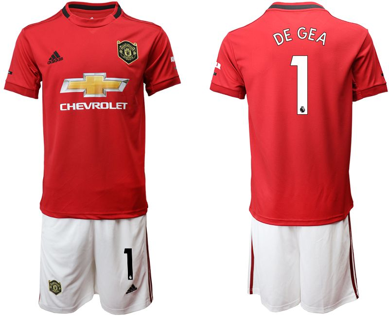 Men 2019-2020 club Manchester United home 1 red Soccer Jerseys