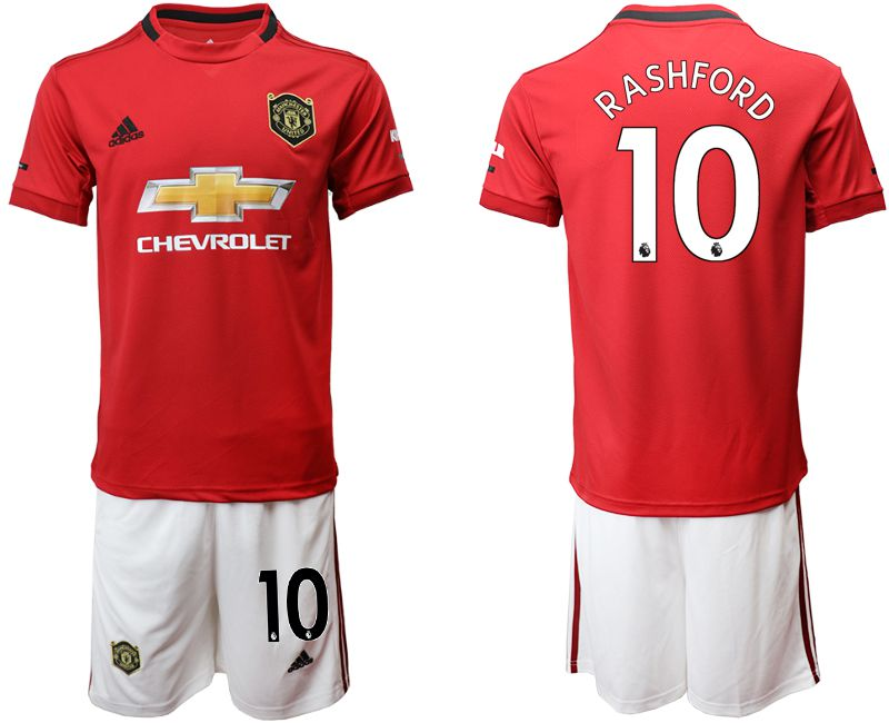 Men 2019-2020 club Manchester United home 10 red Soccer Jerseys