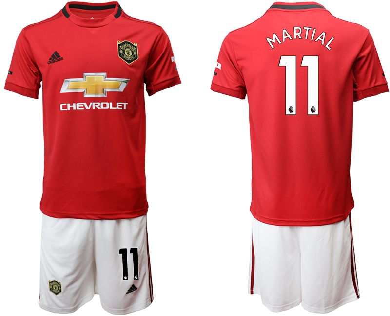 Men 2019-2020 club Manchester United home 11 red Soccer Jerseys
