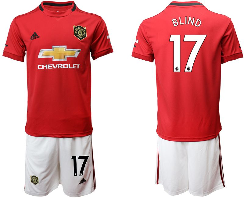 Men 2019-2020 club Manchester United home 17 red Soccer Jerseys