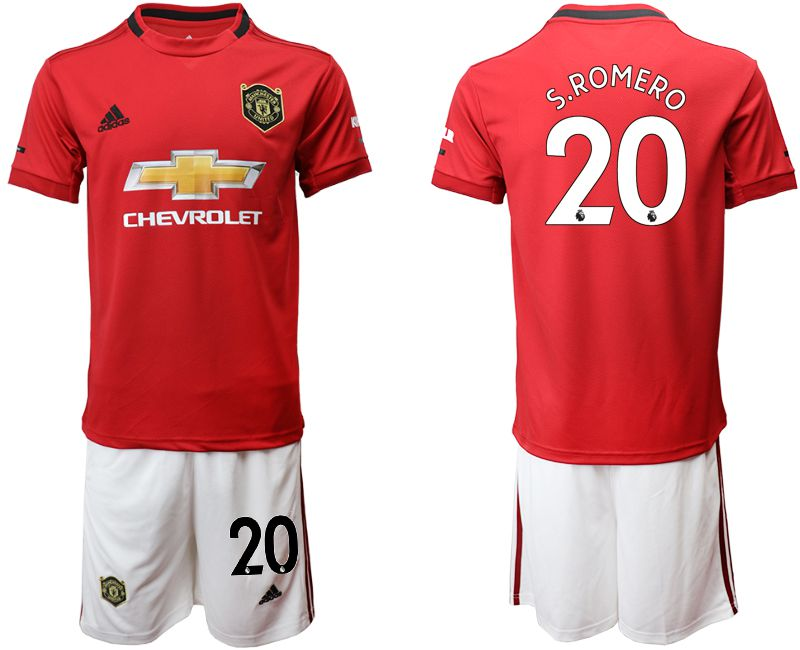 Men 2019-2020 club Manchester United home 20 red Soccer Jerseys