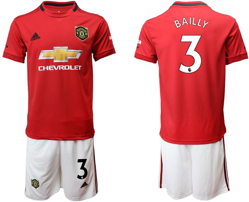 Men 2019-2020 club Manchester United home 3 red Soccer Jerseys