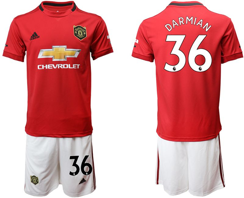 Men 2019-2020 club Manchester United home 36 red Soccer Jerseys