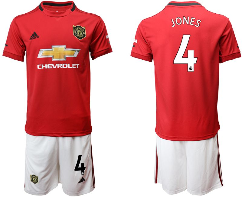 Men 2019-2020 club Manchester United home 4 red Soccer Jerseys