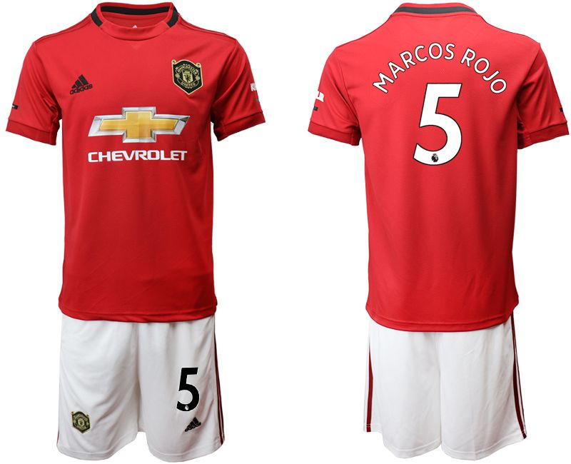 Men 2019-2020 club Manchester United home 5 red Soccer Jerseys