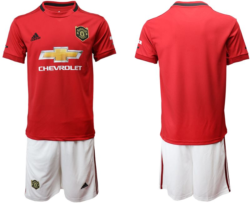 Men 2019-2020 club Manchester United home red Soccer Jerseys