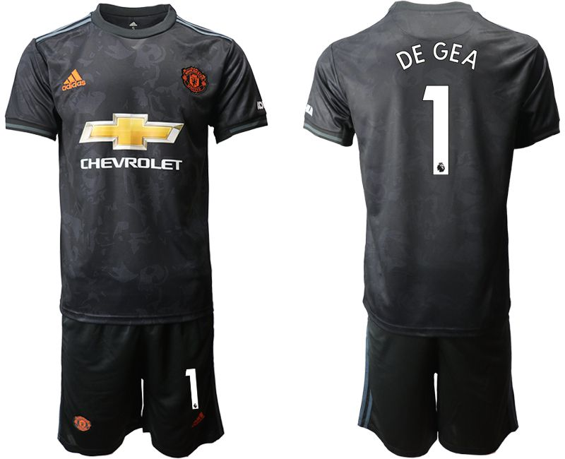 Men 2019-2020 club Manchester united away 1 black Soccer Jerseys