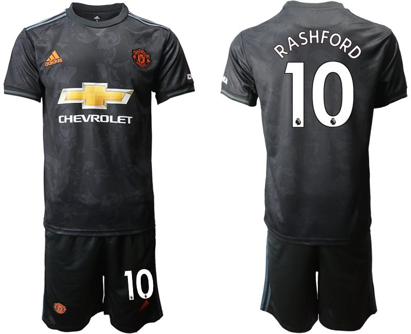 Men 2019-2020 club Manchester united away 10 black Soccer Jerseys
