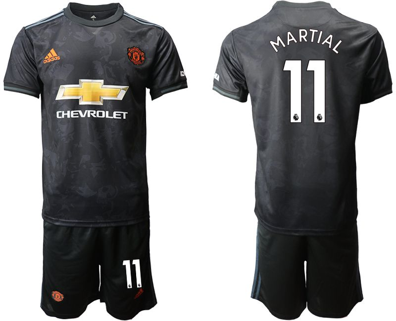 Men 2019-2020 club Manchester united away 11 black Soccer Jerseys