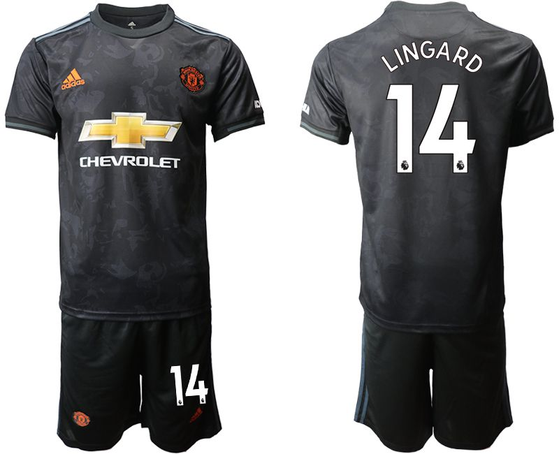 Men 2019-2020 club Manchester united away 14 black Soccer Jerseys