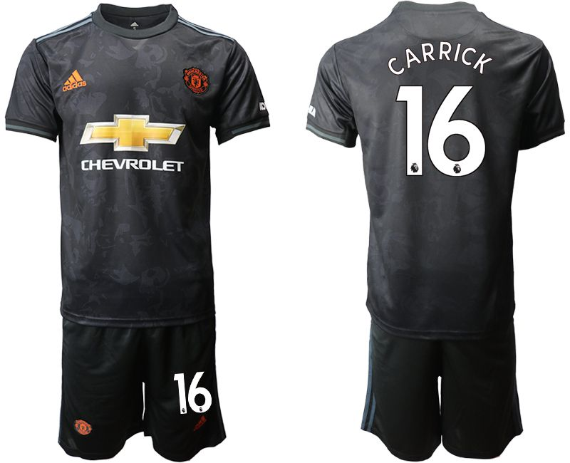 Men 2019-2020 club Manchester united away 16 black Soccer Jerseys