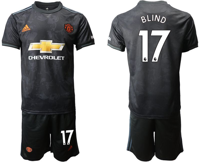 Men 2019-2020 club Manchester united away 17 black Soccer Jerseys