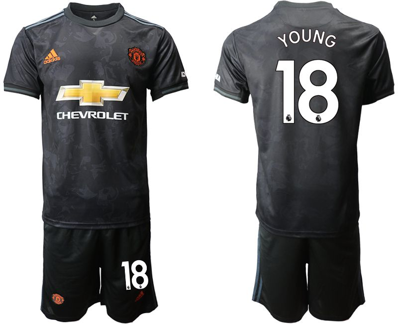 Men 2019-2020 club Manchester united away 18 black Soccer Jerseys