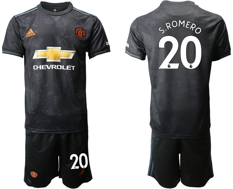 Men 2019-2020 club Manchester united away 20 black Soccer Jerseys