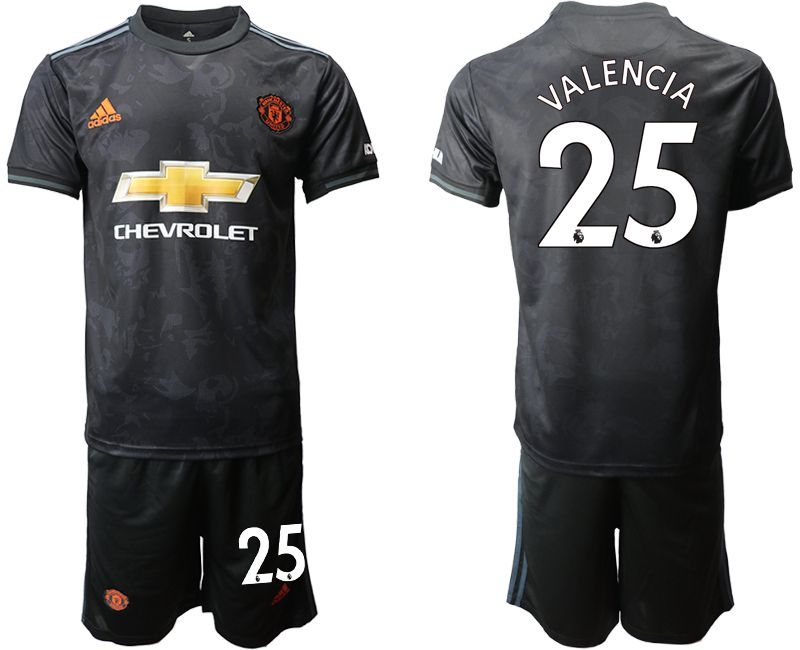 Men 2019-2020 club Manchester united away 25 black Soccer Jerseys