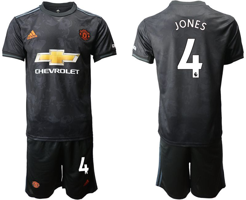 Men 2019-2020 club Manchester united away 4 black Soccer Jerseys