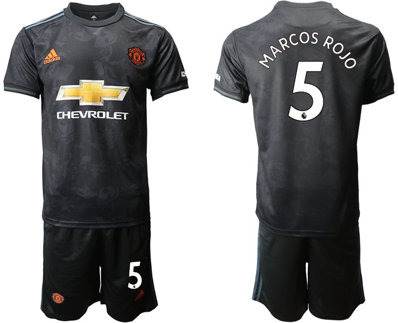 Men 2019-2020 club Manchester united away 5 black Soccer Jerseys