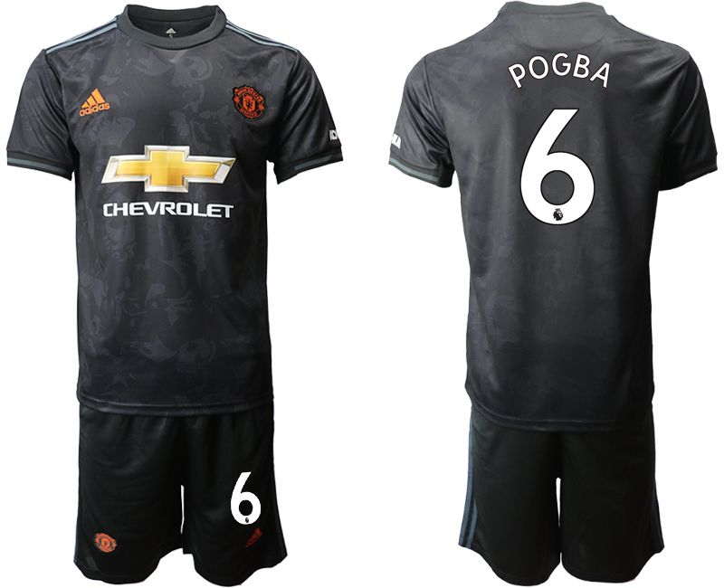 Men 2019-2020 club Manchester united away 6 black Soccer Jerseys