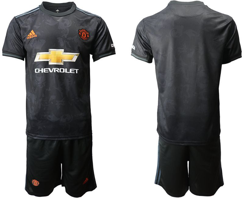 Men 2019-2020 club Manchester united away black Soccer Jerseys