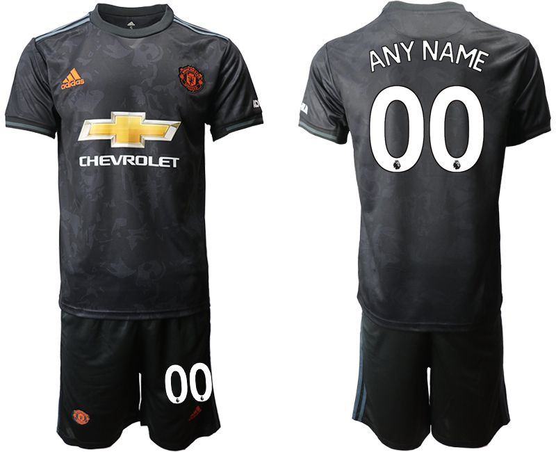 Men 2019-2020 club Manchester united away customized black Soccer Jerseys