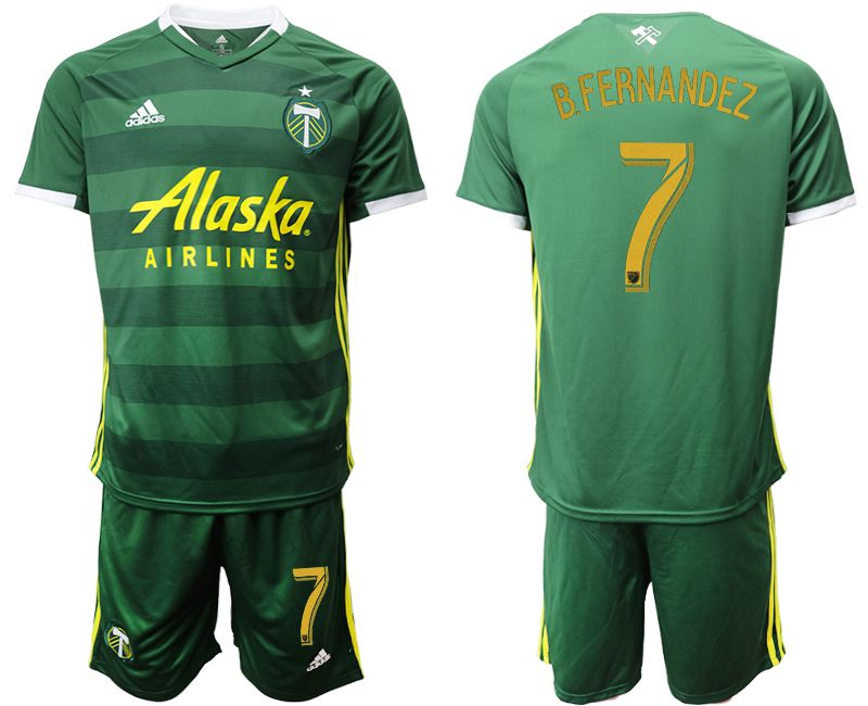 Men 2019-2020 club Portland Timbers hone 7 green Soccer Jerseys