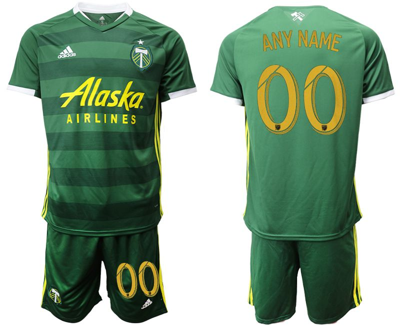 Men 2019-2020 club Portland Timbers hone customized green Soccer Jerseys