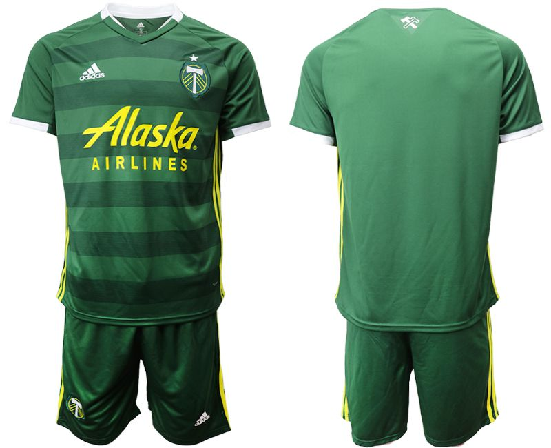Men 2019-2020 club Portland Timbers hone green Soccer Jerseys