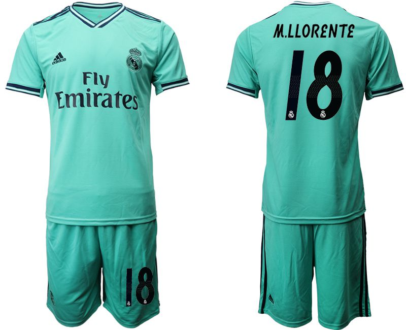 Men 2019-2020 club Real Madrid away 18 green Soccer Jerseys
