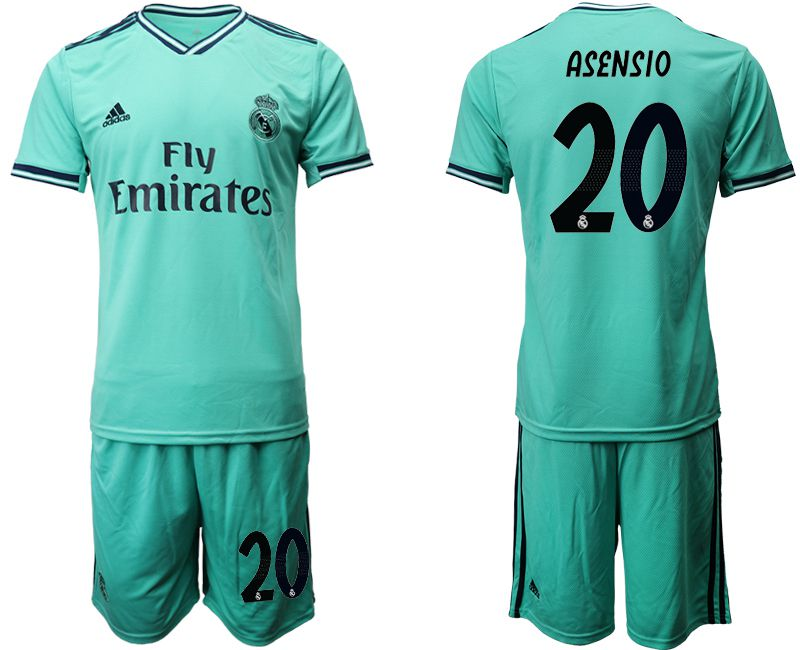 Men 2019-2020 club Real Madrid away 20 green Soccer Jerseys