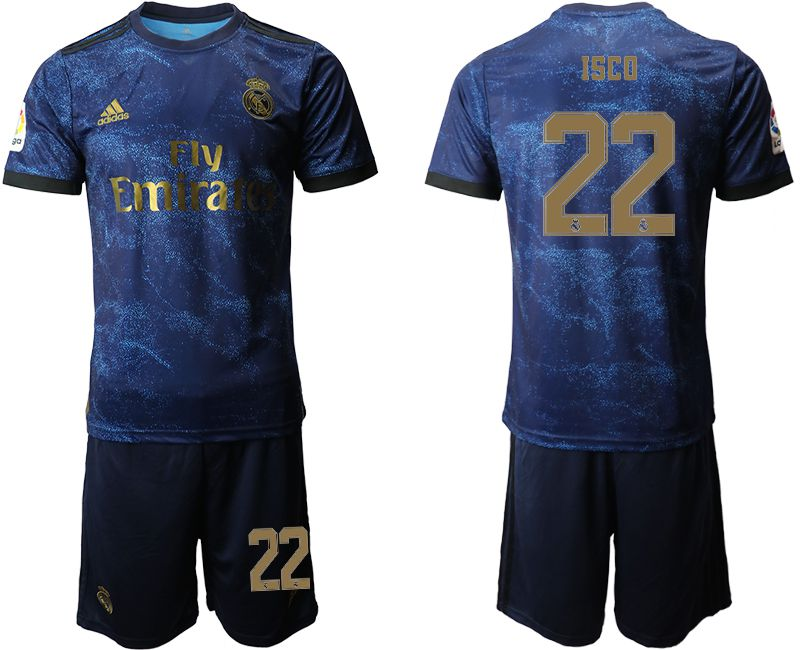 Men 2019-2020 club Real Madrid away 22 blue Soccer Jerseys
