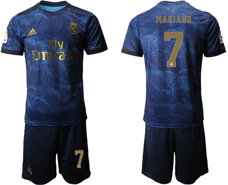 Men 2019-2020 club Real Madrid away 7 blue Soccer Jerseys