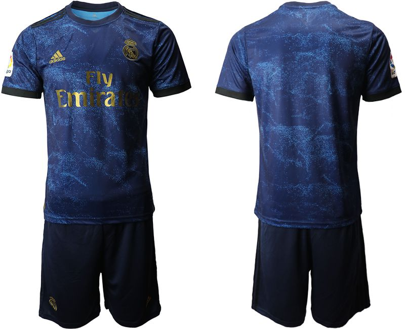 Men 2019-2020 club Real Madrid away blue Soccer Jerseys