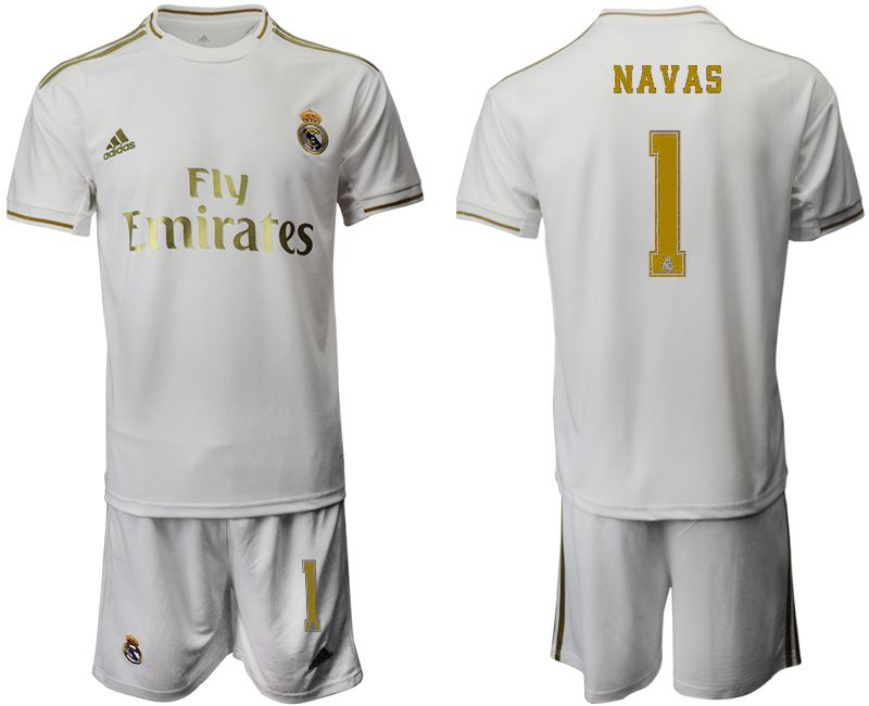 Men 2019-2020 club Real Madrid home 1 white Soccer Jerseys
