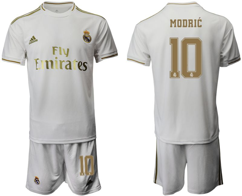 Men 2019-2020 club Real Madrid home 10 white Soccer Jerseys