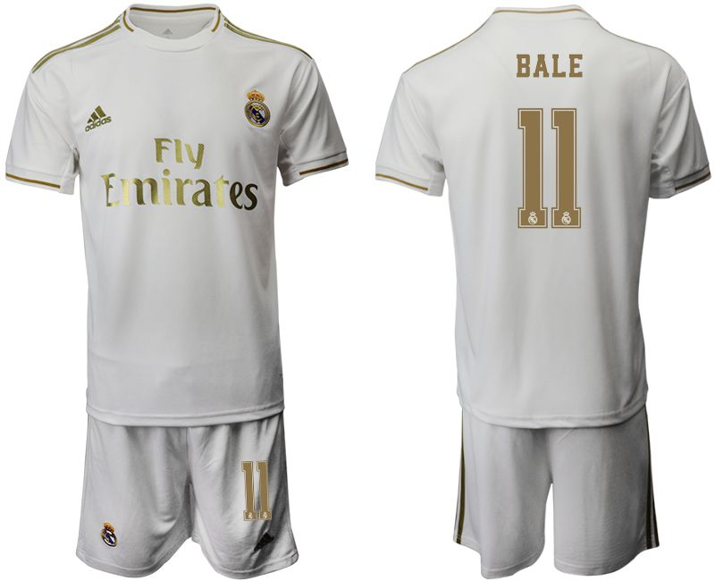 Men 2019-2020 club Real Madrid home 11 white Soccer Jerseys