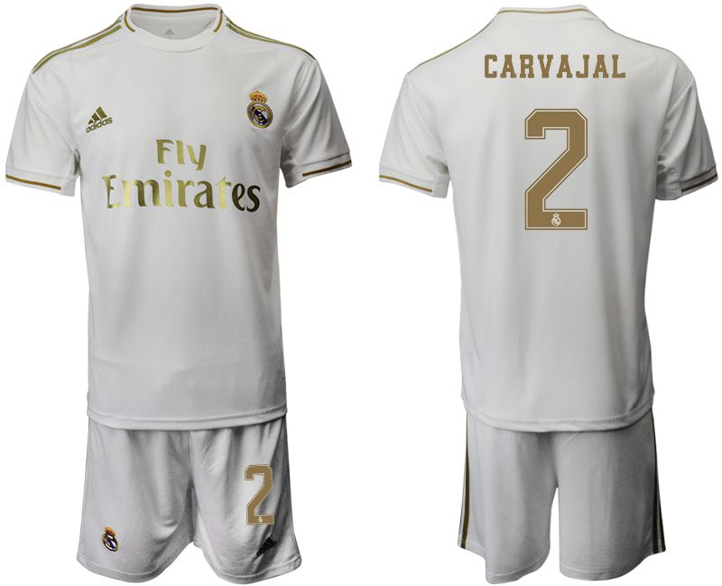 Men 2019-2020 club Real Madrid home 2 white Soccer Jerseys
