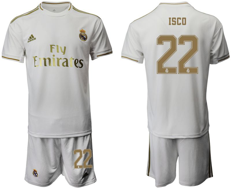 Men 2019-2020 club Real Madrid home 22 white Soccer Jerseys